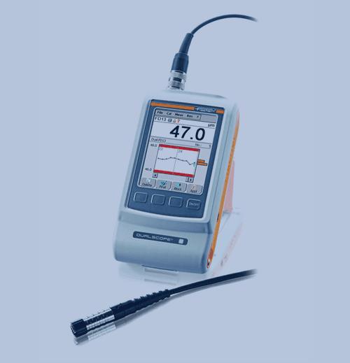 Medición de Espesor de Recubrimiento Fischer Dualscope FMP100