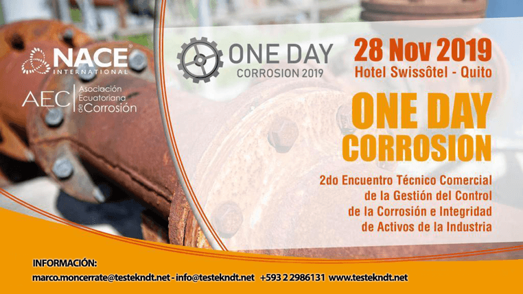 Noticia-One Day Corrosion 2019-Grupo-Testek-principal