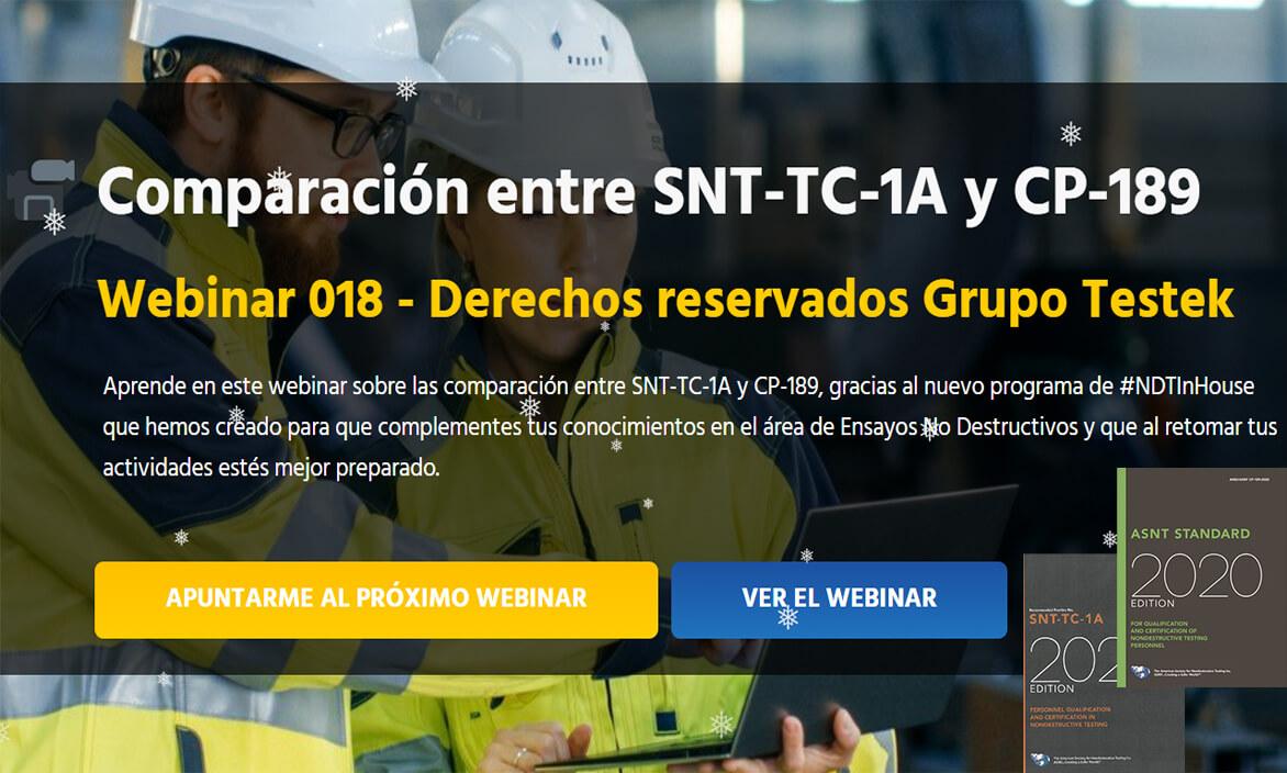 Comparación entre SNT-TC-1A y CP-189-Webinar-Grupo-Testek